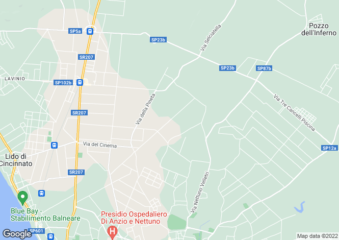 Map for Nettuno, Rome, Lazio