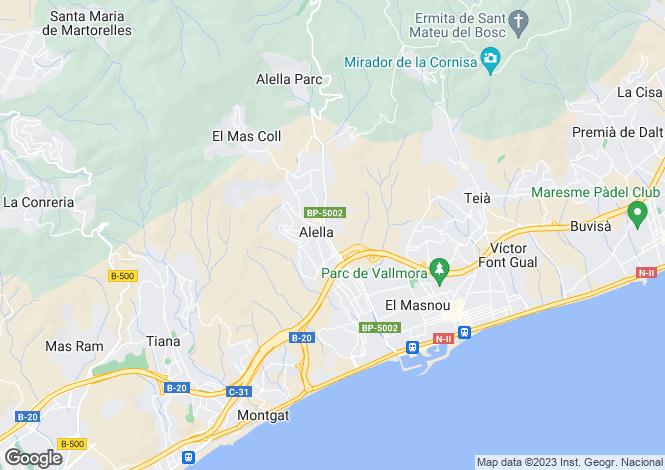 Map for Alella, Barcelona, Catalonia