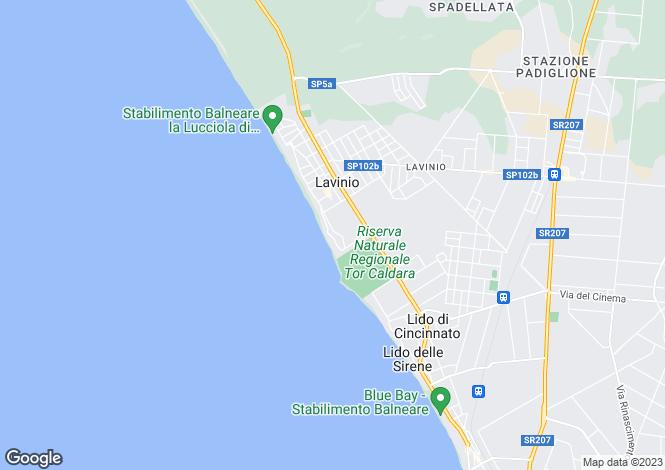 Map for Anzio, Rome, Lazio