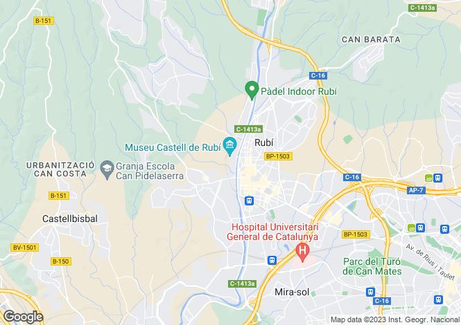 Map for Rubi, Barcelona, Spain