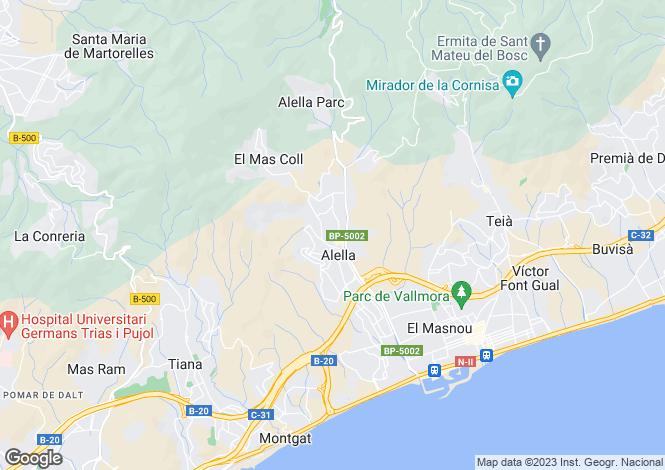Map for Alella, Alella, Barcelona