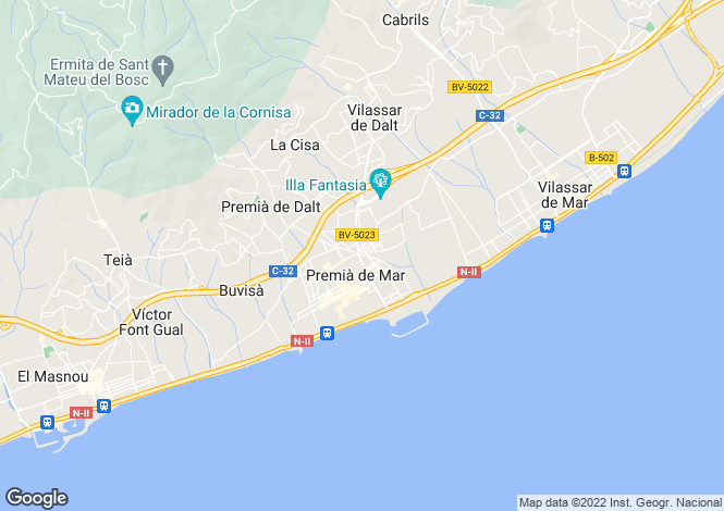 Map for Spain, Barcelona, Maresme Coast, Premià de Dalt, MRS21033