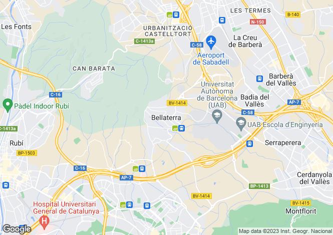 Map for Bellaterra, Barcelona, Catalonia, Spain