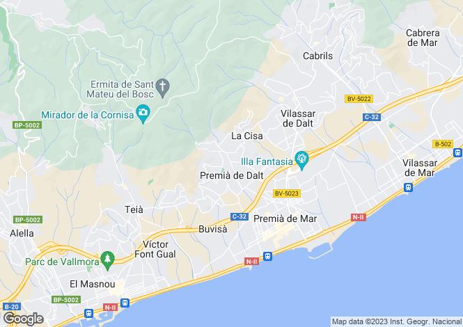 Map for Premiá De Dalt, Barcelona, Catalonia