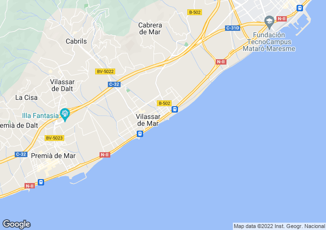 Map for Catalonia, Barcelona, Vilassar de Mar