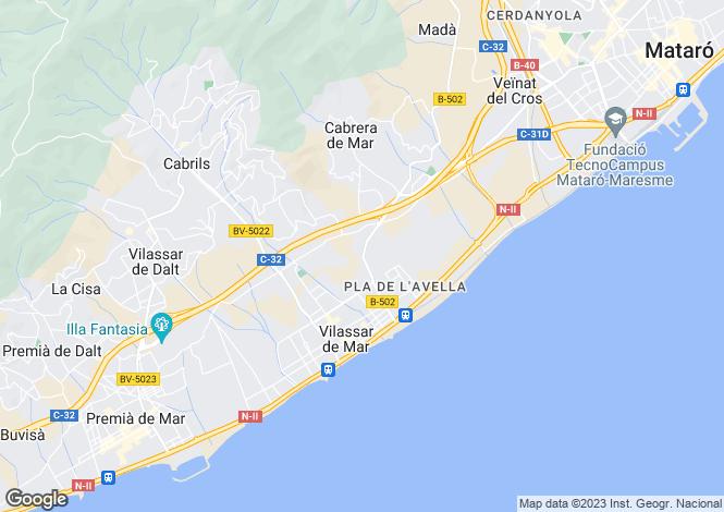 Map for Spain, Barcelona North Coast (Maresme), Cabrils, MRS19734