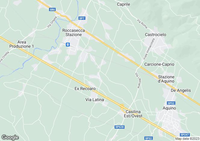 Map for Lazio, Frosinone, Roccasecca