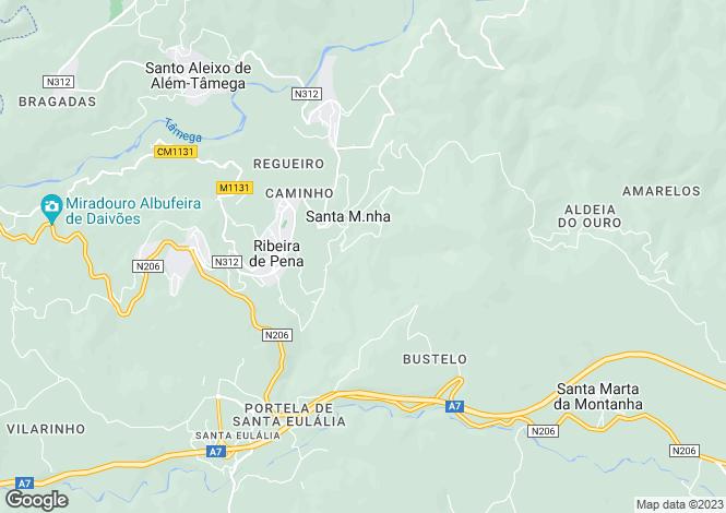 Map for Ribeira de Pena, Tras-os-Montes