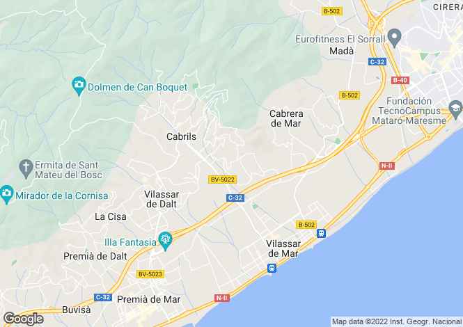 Map for Cabrils, Barcelona, Catalonia