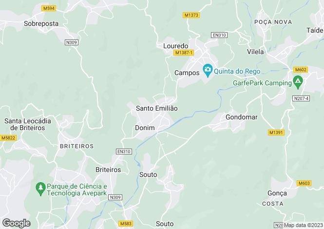 Map for Minho, Póvoa de Lanhoso