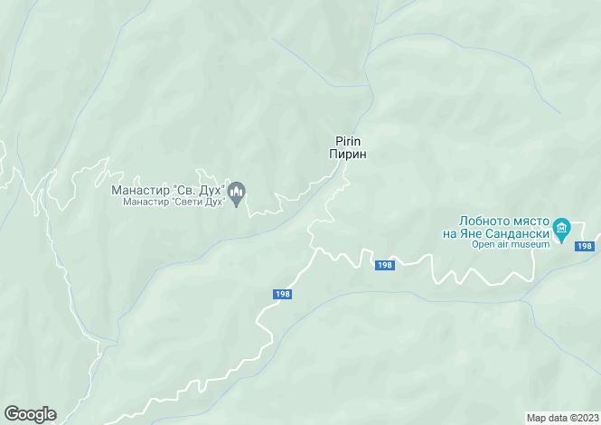Map for Blagoevgrad, Pirin
