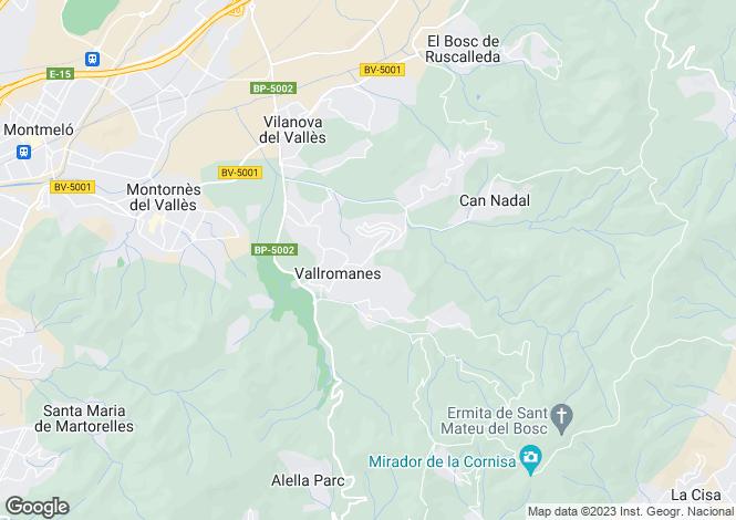 Map for Vallromanes, Barcelona, Catalonia, Spain