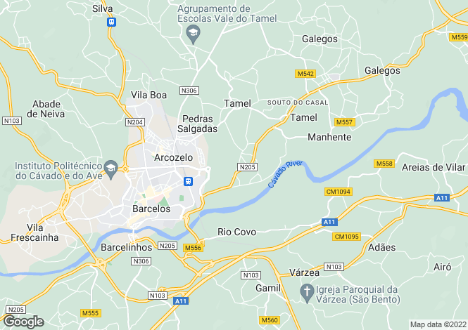Map for Portugal,Braga,Barcelos