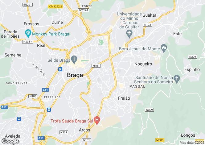 Map for Minho, Braga