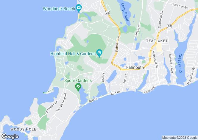 Map for USA - Massachusetts, Barnstable County, Falmouth