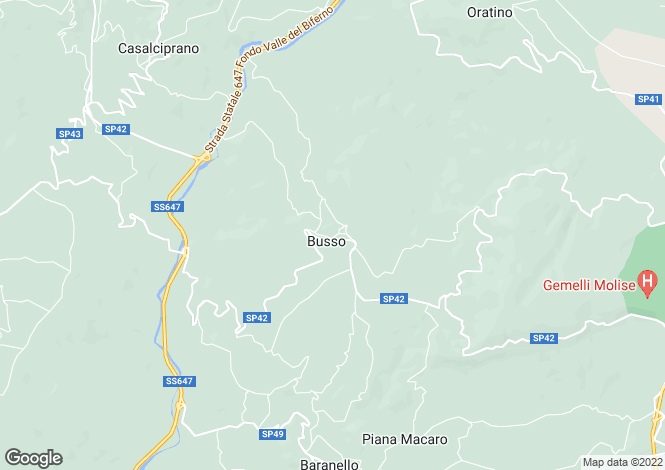 Map for Campobasso, Busso, Molise, CB86010