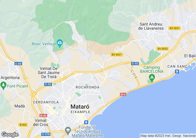 Map for Mataró, Barcelona, Catalonia