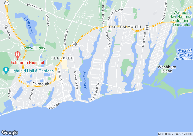 Map for Massachusetts, Barnstable County, Falmouth