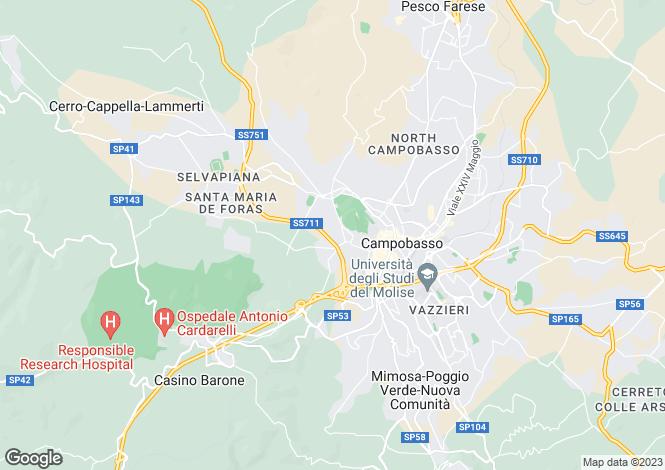 Map for Campobasso, Campobasso, Molise