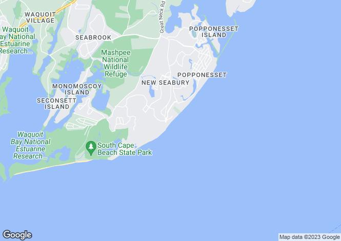Map for USA - Massachusetts, Mashpee