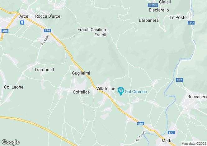 Map for Roccasecca, Frosinone, Lazio