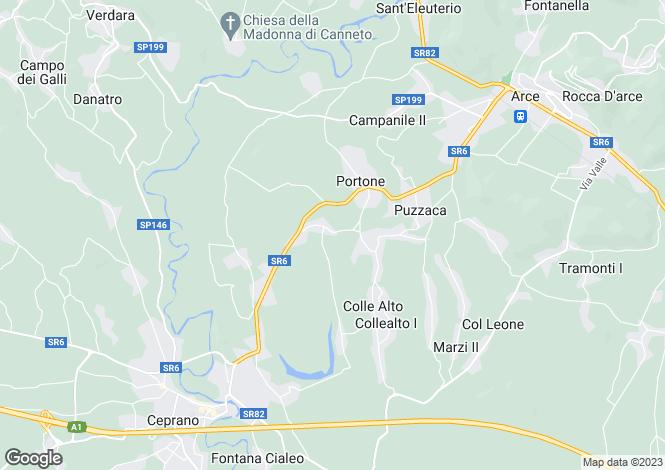 Map for Arce, Frosinone, Lazio