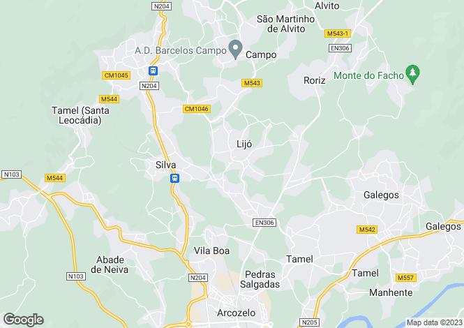 Map for Minho, Barcelos