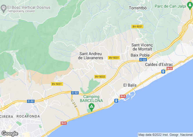 Map for San Andres De Llavaneras, Barcelona, Catalonia