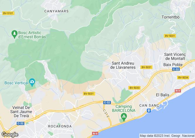 Map for San Andres De Llavaneras, Barcelona, Catalonia