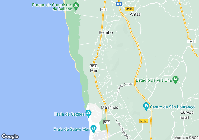 Map for Minho, Esposende