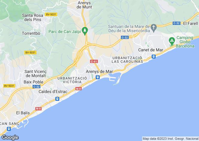Map for Arenys de Mar, Arenys de Mar, Barcelona