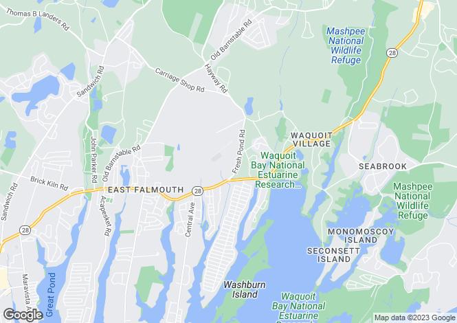 Map for USA - Massachusetts, Barnstable County, East Falmouth