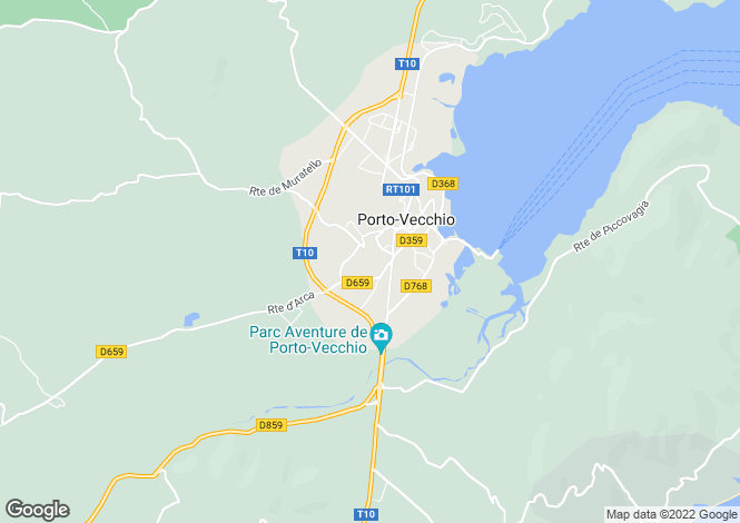Map for PORTO VECCHIO ,France