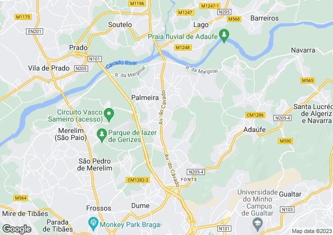 Map for Portugal,Braga,Palmeira