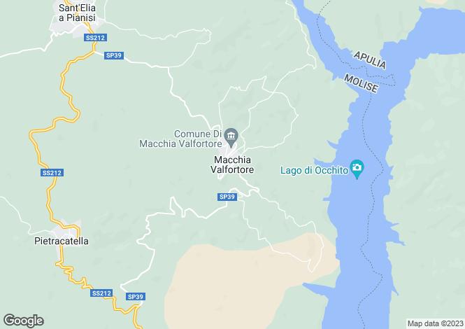Map for Molise, Campobasso, Macchia Valfortore