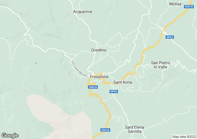 Map for Frosolone, Isernia, Molise