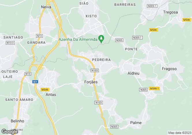 Map for Minho, Forjães