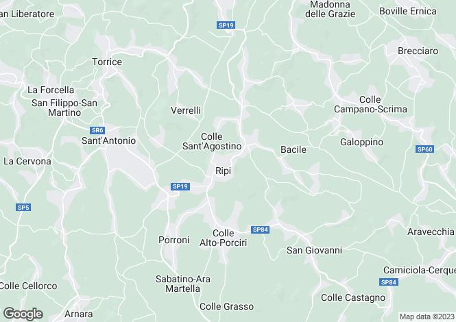 Map for Ripi, Frosinone, Lazio