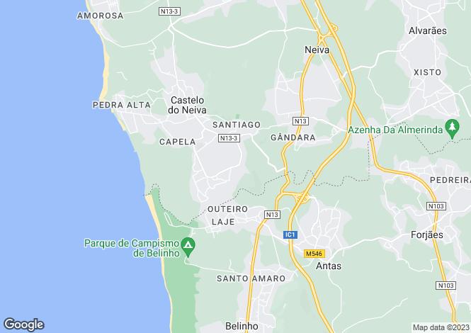Map for Minho, Castelo do Neiva