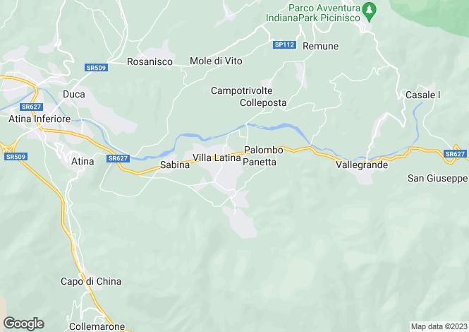 Map for Villa Latina, Frosinone, Lazio