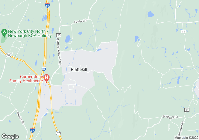 Map for USA - New York, Wallkill
