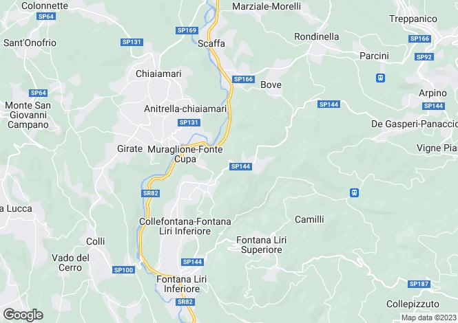 Map for Lazio, Frosinone