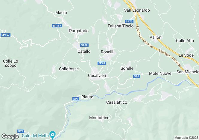 Map for Lazio, Frosinone, Casalvieri