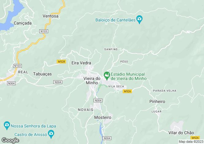 Map for Vieira do Minho,Portugal