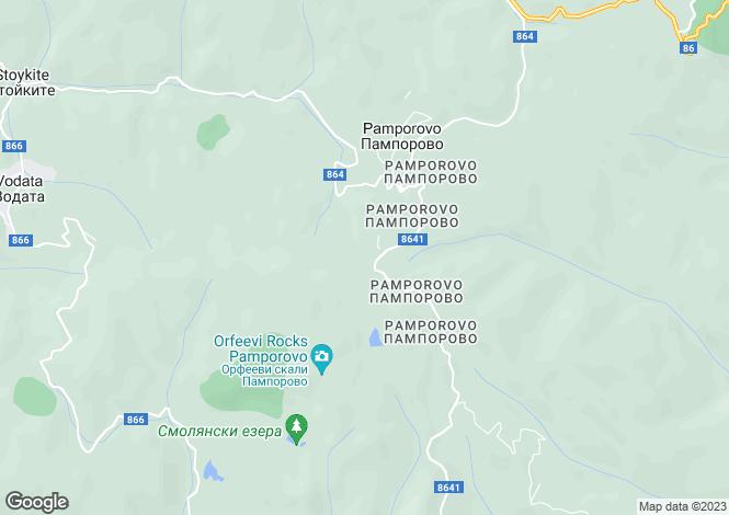 Map for Pamporovo, Smolyan