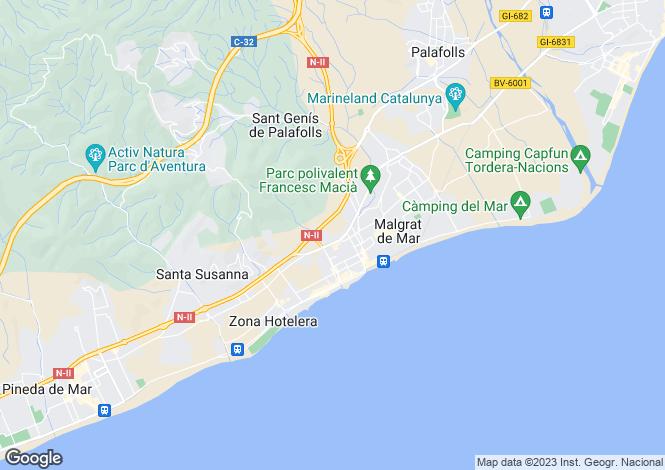 Map for Malgrat de Mar, Barcelona, Catalonia
