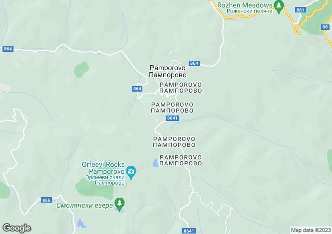 Map for Smolyan, Pamporovo