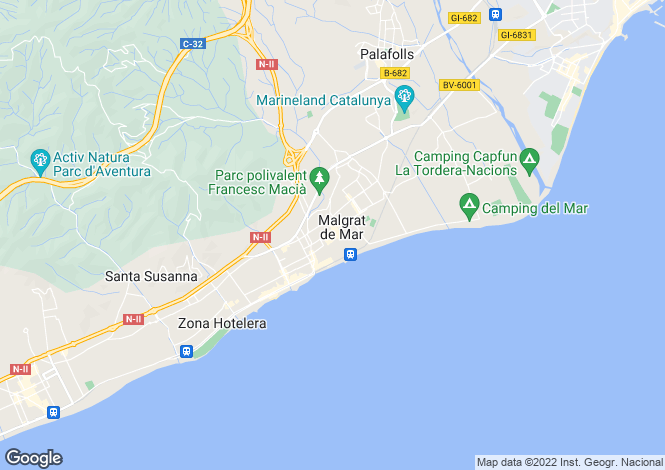 Map for Catalonia, Barcelona, Malgrat de Mar