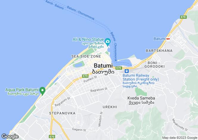 Map for Bat`umi, Ach`ara