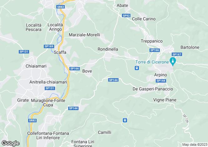 Map for Lazio, Frosinone, Arpino